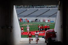 A football practice at TEDECU Stadium at the University of Houston in Houston Friday, August 28, 2015.