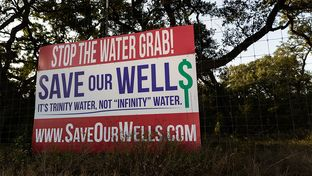 "Local residents sparked monikers including ""Save Our Wells"" and ""It's Trinity Water, Not 'Infinity' Water"" in their fight against a Houston-based company's plans to pump millions of gallons of water per day from the Trinity Aquifer in western Hays County."