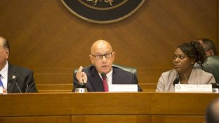 State Sen. John Whitmire, D-Houston, chairman of the Senate Criminal Justice Committee, is shown during a Sept. 22, 2015, committee hearing.