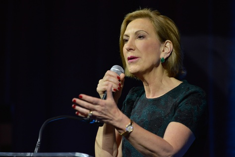 Republican Presidential candidate Carly Fiorina speaks to the National Organization of Women Business Owners meeting in San Antonio, Texas September 27, 2015.