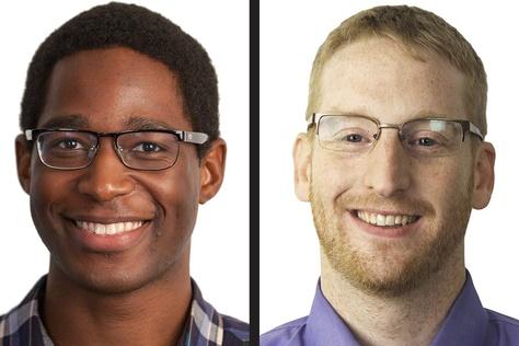 Criminal justice reporter Johnathan Silver and Associate Editor Robert Inks