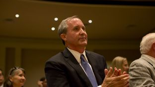 Texas Attorney Gen.  Ken Paxton, during The Texas Response: Pastors, Marriage & Religious Freedom event at the First Baptist Church in Pflugerville, Texas on September 29, 2015