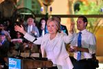 Democratic presidential frontrunner Hillary Clinton addresses supporters during a campaign rally Thursday in San Antonio. Joined on stage by U.S. Housing Secretary Julián Castro, she kicked off a months-long effort to energize Hispanic voters known as Latinos for Hillary.