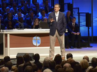 U.S. Sen. Ted Cruz speaks at Prestonwood Baptist Church on Oct. 18 2015.