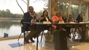 U.S. Rep. Marc Veasey, D-Fort Worth, speaks at a women's conference in Dallas on Oct. 19, 2015.