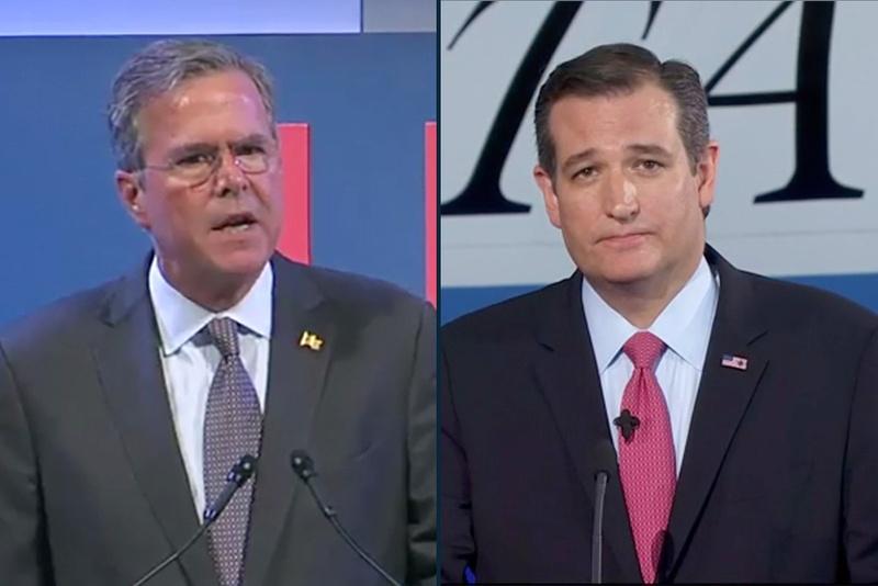 Jeb Bush and Ted Cruz.