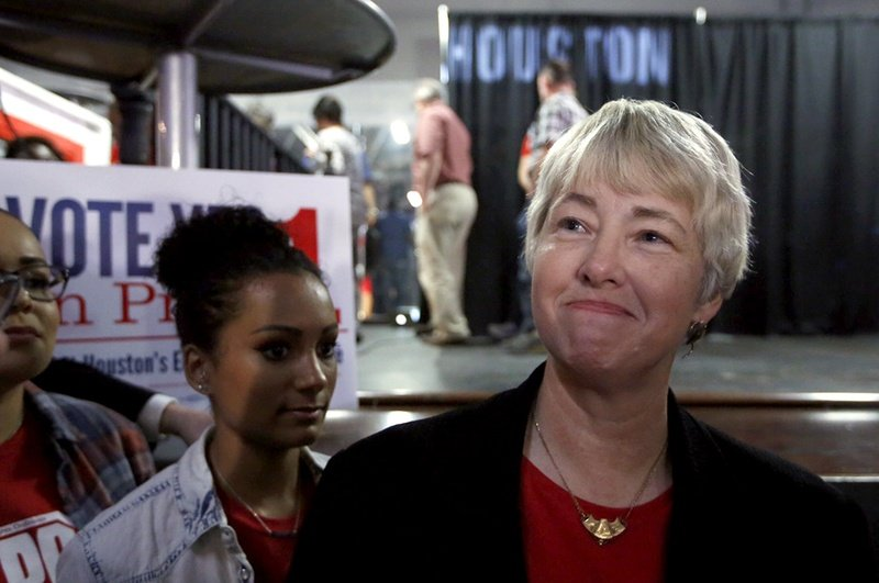 """Houston Mayor Annise Parker after the Houston Unites election watch party for Proposition 1 on Nov. 3, 2015. Parker, who supported the proposition, said after voters rejected it: """"Unfortunately, I fear that this will have stained Houston's reputation as a tolerant, welcoming, global city."""""""