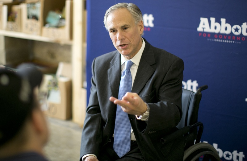 "Gov. Greg Abbott is shown in November 2015 proposing reforms against ""sanctuary cities"" that he wants Texas lawmakers to consider in the 2017 legislative session."