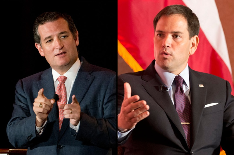 U.S. Sen. Ted Cruz, R-Texas, and U.S. Sen. Marco Rubio, R-Florida.