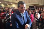 Ted Cruz greets supporters at Bob Jones University in Greenville, South Carolina on Nov. 14, 2015.