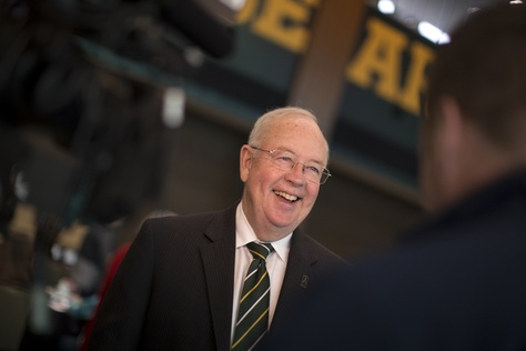 President and chancellor of Baylor University Ken Starr during the Higher Education Symposium in Waco, Texas