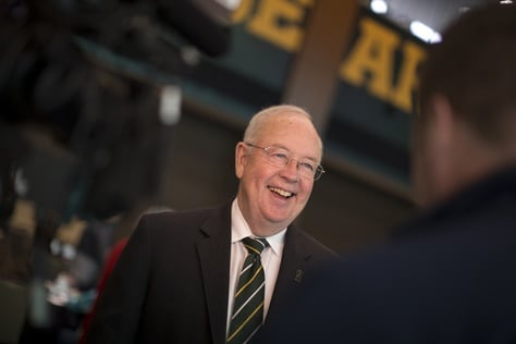 Baylor University Chancellor and President Ken Starr during a Texas Tribune Higher Education Symposium in Waco.