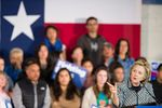 Democratic presidential candidate Hillary Clinton speaks at Mountain View College in Dallas on Nov. 17, 2015.