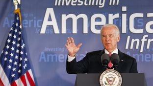 Vice President Joe Biden speaks Wednesday, Nov. 18, 2015, in Houston.