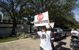 Group gathered from all around Texas and marched to the Governor's Mansion to show their support fro DACA and DAPA