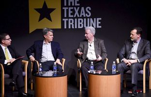 Private sector experts John Dickson, Vic Diaz and Paul Williams at TTEvents Cybersecurity and Privacy Summit at UTSA on Dec. 9, 2015.