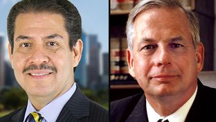Former Harris County Sheriff Adrian Garcia (left) is challenging U.S. Rep. Gene Green, D-Houston, in the Democratic Primary.