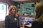 Former Texas state Senator and gubernatorial candidate Wendy Davis on the presidential campaign trail for Hillary Clinton in Cedar Rapids, Iowa on Dec. 18, 2015.