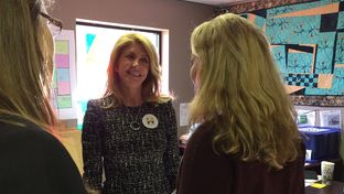 Former state Sen. and Texas gubernatorial candidate Wendy Davis campaigned for Hillary Clinton in Cedar Rapids, Iowa, on Dec. 18, 2015.
