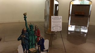 Winter Solstice scene on display in the Capitol. It was ordered removed after Gov. Greg Abbott objected to it.