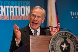 Greg Abbott gives the closing keynote at the 2016 Texas Public Policy Foundation Policy Orientation on Jan. 8, 2016.