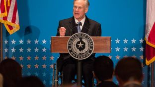 Gov. Greg Abbott gives the closing keynote address at the 2016 Texas Public Policy Foundation Policy Orientation on Jan. 8, 2016.