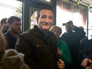 U.S. Sen. Ted Cruz campaigns in New Hampshire.