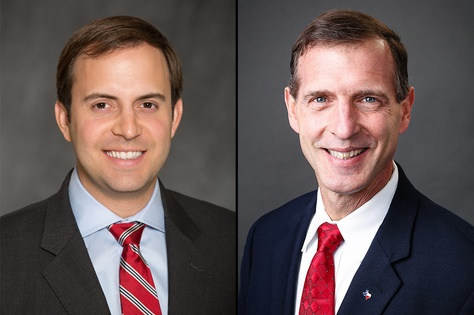 Republicans Lance Gooden, left, and incumbent Stuart Spitzer, right, run in the 2016 election for Texas House District 4.