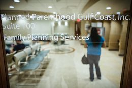 The waiting room at Planned Parenthood of Gulf Coast's ambulatory surgical center in Houston Friday, August 2, 2013.