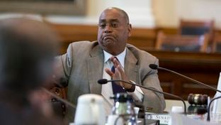 Sen. Rodney Ellis D-Houston questions witness during a Jan 26th, 2016 State Affairs Committee hearing