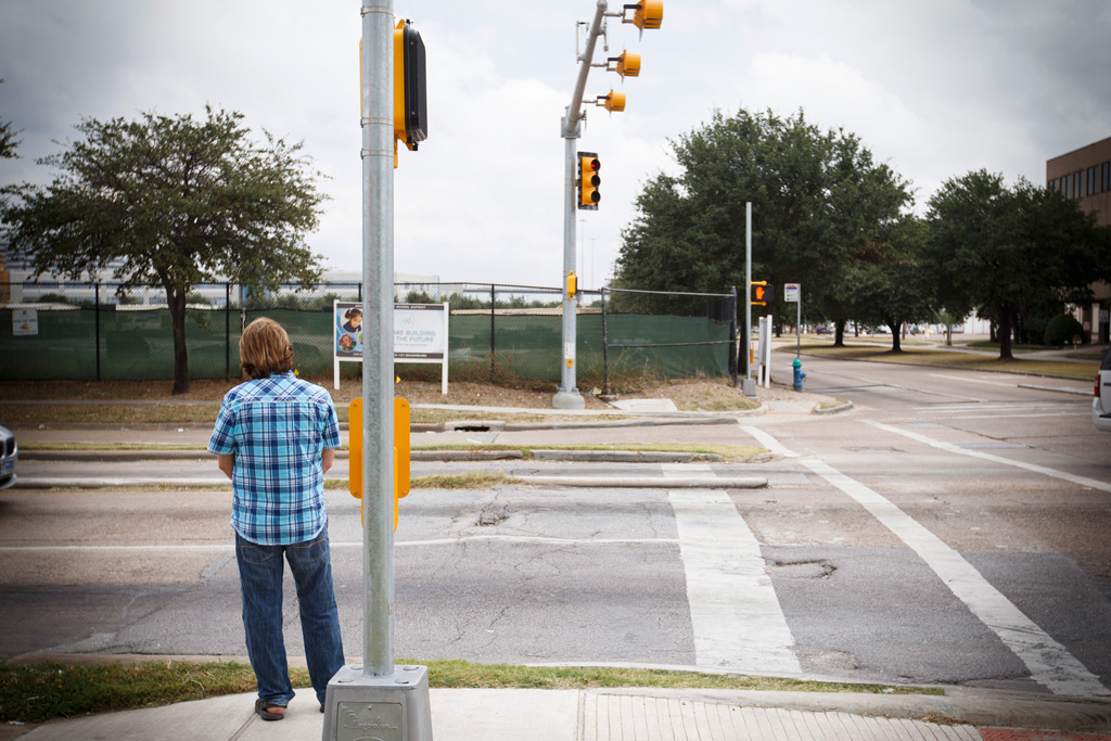 Dan Golvach, father of Spencer Golvach, in Houston Tuesday, October 20, 2015 at the intersection where his son was killed by an undocumented immigrant in January.