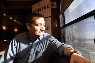 U.S. Sen. Ted Cruz of Texas on his tour bus near Ames, Iowa on Jan. 30, 2016.