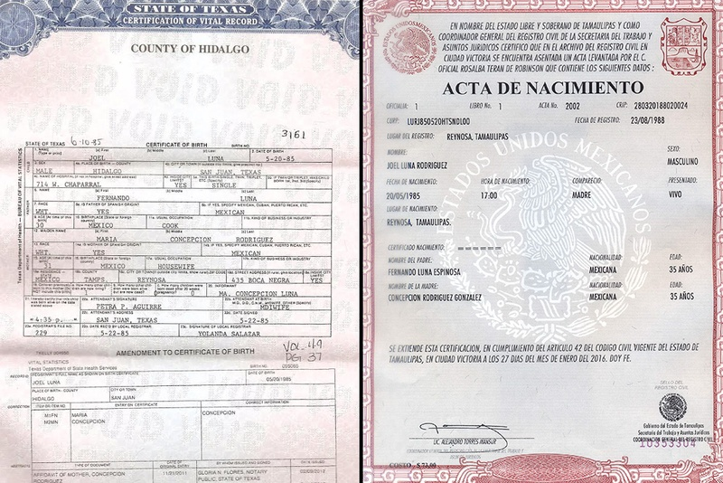 Indicted Border Patrol Agent Has Two Birth Certificates The Texas