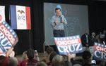 Ted Cruz makes closing arguments for his candidacy in Des Moines on Jan. 31, 2016.