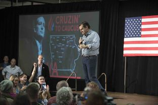 Ted Cruz lays out his vision for the future on the final night before the Iowa caucuses on Jan. 31, 2016.