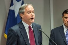 Texas Attorney General Ken Paxton at a press conference in Austin on Jan. 13, 2016.