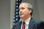 Texas Attorney General Ken Paxton is shown at a news conference in Austin on Jan. 13, 2016, to announce a new unit of the attorney general's office dedicated to combating human trafficking.