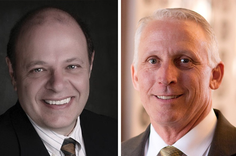 Former state Rep. George Lavender, left, is challenging state Rep. Gary VanDeaver, right, in the Republican primary for Texas House District 1.