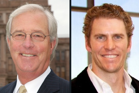 State Rep. Charlie Geren, left, is being challenged in the House District 99 Republican primary race by Bo French, right.