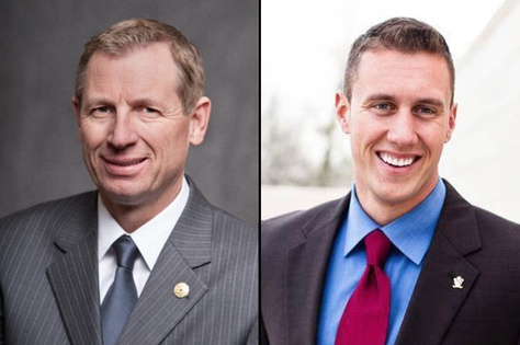 Republican candidates incumbent Byron Cook, left, and Thomas McNutt, right, run in the 2016 election for Texas House District 8.