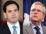 U.S. Sen. Marco Rubio and former Gov. Jeb Bush, both Florida Republicans
