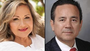 Democrats candidates Helen Madla, left, and incumbent Carlos I. Uresti, right, run in the 2016 election for Texas Senate District 4.