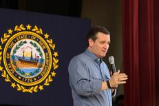 Texas Sen. and Republican presidential candidate Ted Cruz held a town hall meeting at the Peterborough Town Hall on Sunday, Feb. 7, 2016.