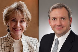 Debra Lehrmann (left) is challenging Michael Massengale in a Republican matchup for Texas Supreme Court Justice Place 3.
