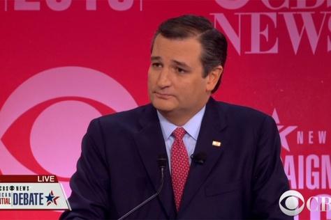U.S. Sen. Ted Cruz is shown at the Republican presidential debate in Greenville, S.C., on Feb. 13, 2016.