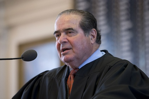 Longtime Supreme Court Associate Justice Antonin Scalia speaks in the Texas House chamber on Nov. 11, 2013.  Scalia, 79, passed away during a hunting trip to west Texas on Feb. 13, 2016.