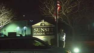 Justice Antonin Scalia's body was moved to the Sunset Funeral Home in El Paso on February 14, 2016.