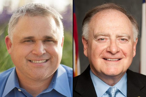 Bryan Slaton (l) is challenging state Rep. Dan Flynn in the GOP primary for House District 2.