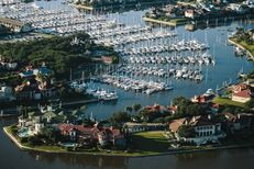 Boats and residential development in League City near Clear Lake on Nov. 10, 2015.