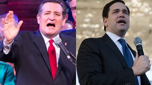 Republican presidential candidates and U.S. Senators Ted Cruz of Texas and Marco Rubio of Florida.